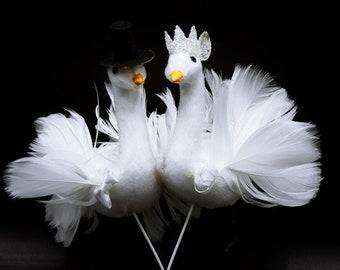 Swans Cake Topper Wedding Cake Topper Bird Cake Topper Dove Cake Topper Artificial Wedding Swans Wedding Birds Cake Topper Birds Nr 2
