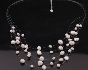 Natural White Freshwater Pearl Necklace