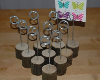 Wooden Holders,Wedding Table Place Number/Menu/Photo/Shops/Wire & Hardwood X 15