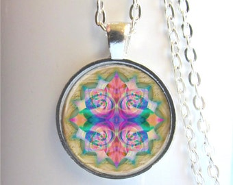 Mandala Pendant, Mandala Necklace, Art Pendant