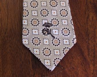 Silk Wide Tie by Countess Mara New York, Selber Bros Mens Shops, Never Worn Vintage Neckwear, Retro Menswear