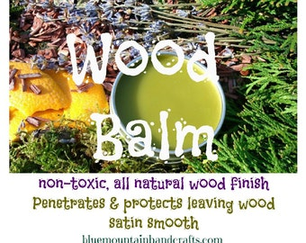 WOOD BALM--UNSCENTED--All Natural for Spinning Wheels Wool Combs & Hackles Drum Carders 2 oz
