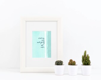 Drake Lyrics *Instant Download* Printable Wearing Less Teal Funny Quote