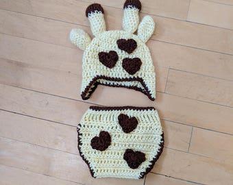 I heart giraffes photo costume, 0-3 months