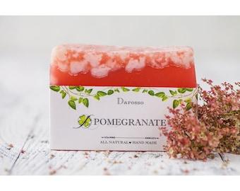 Pomegranate Soap, Soap, Vegan Soap, Natural Soap Bar, Homemade Soap, Handmade Soap, gift for her, gift for girlfriend, gift for women