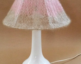 mohair knitted lampshade