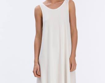 White Sun Dress - Swing Dress