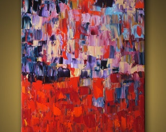 "no25 Huge Painting - Original Large Abstract Modern Art Oil Painting MADE-TO-ORDER 48''x60"" - Michel Campeau"