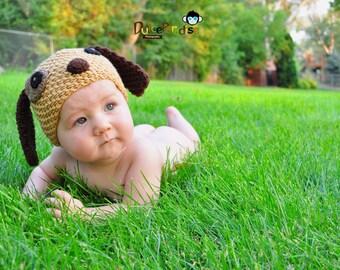 newborn hat, puppy newborn/ baby hat, photography props, newborn photo prop, newborn boy, newborn knit hat, newborn girl, newborn boy prop