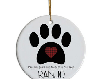 Pet Memorial Ornament, Pet Loss Ornament, Pet Remembrance Ornament, Pet Ornament, Custom Pet Ornament, Pet Life Ornament, Life Celebration