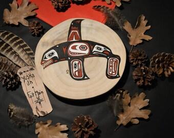 Native American killer whale Totem