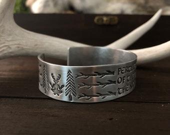 Cernunnos Bracelet - Horned God - Pagan Jewelry - Tree Branches - Pine Tree - Pagan Deity - Norse Shaman - Tribal - Deer