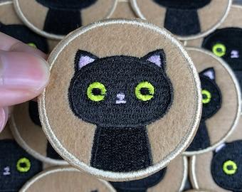 Cute Cat Patch Iron on Patch Black Cat