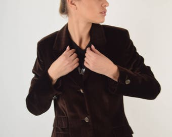 Versace Jeans Couture Velvet Jacket Made in Italy 2837