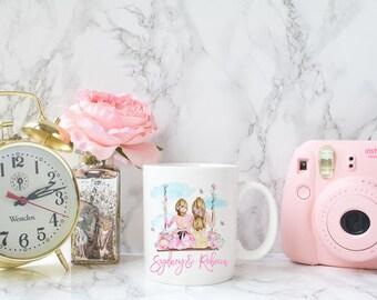 Best friend mug, Bff mug, Personalized best friend Mug, Best friend Birthday gift, BFF Birthday, Personalized mug for bestie, Sister Mug