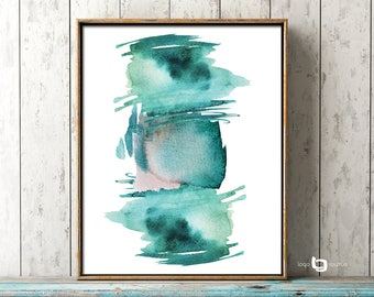 Contemporary Art Print, Green Abstract Painting, Abstract Watercolor Painting, Abstract Watercolor Art, Giclee Abstract Watercolor Print
