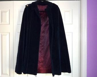 Silk Velvet Cloak Circa 1960s
