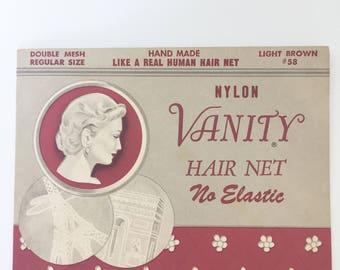 Vanity Light Brown Hair Net - True Vintage