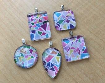 Geometric print pendant