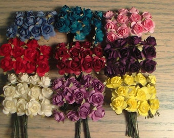 Mulberry Paper  Flowers, Craft Flowers,