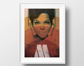 Motown Icon 'Diana Ross' | Graphic Art Print | Poster | Wall Art | A4 & A3