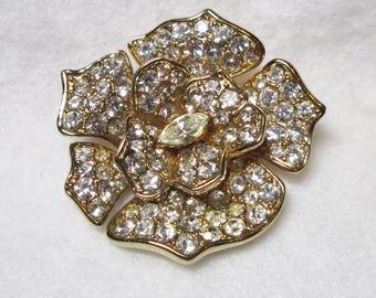 Vintage Givenchy Rhinestone Brooch