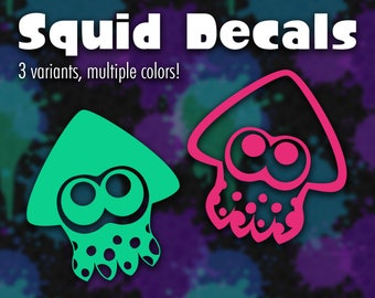 Splatoon Squid Decals