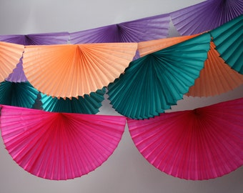 Fan Burst Garland banner mexican fiesta Wedding bunting Party photobooth backdrop NYE purim Eid decorations office work classroom mermaid