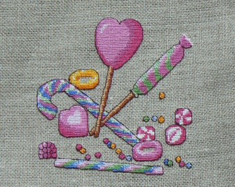 Sour candy Embroidery Kit