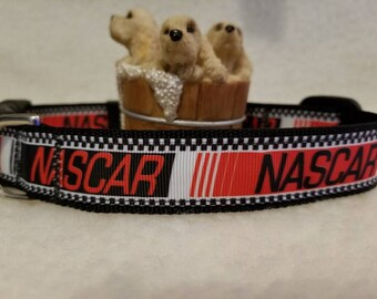 Racing Handmade Dog Collar 1 Inch Medium Large Only