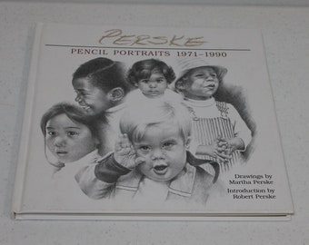 PERSKE Pencil Portraits book 1971-1990 hardcover signed note