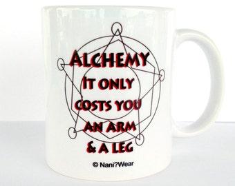 Fullmetal Alchemist Mug: Alchemy Only Costs You an Arm and a Leg