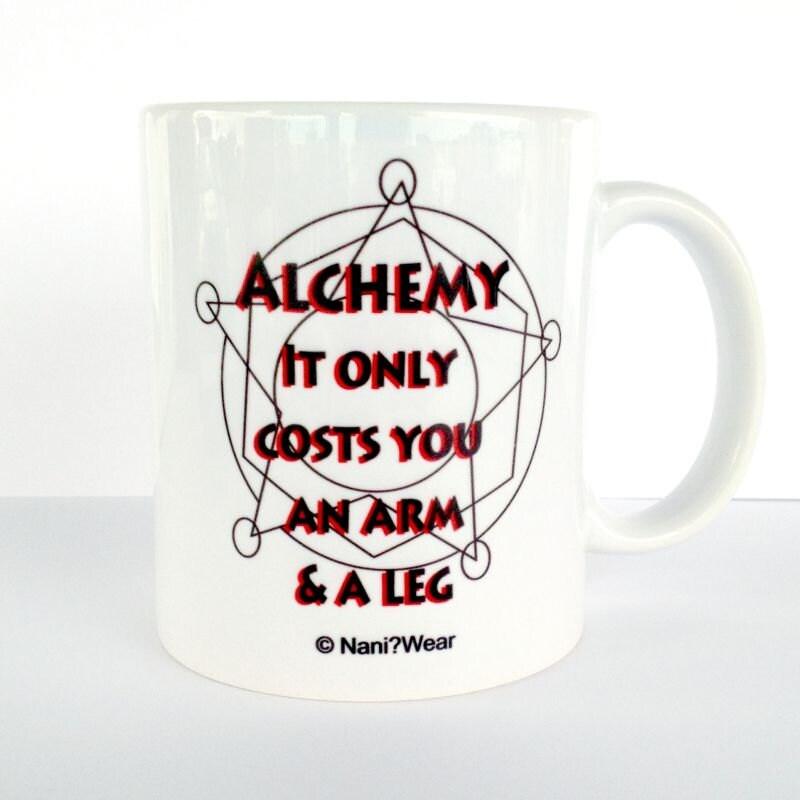 Fullmetal Alchemist Mug: Alchemy Only Costs You An Arm And A