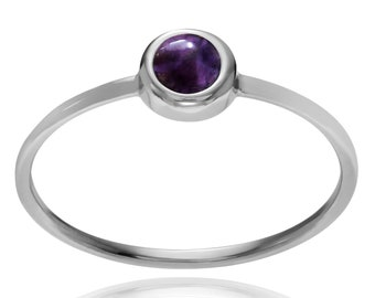 Amethyst ring,92.5% Sterling silver ring,silver jewelry