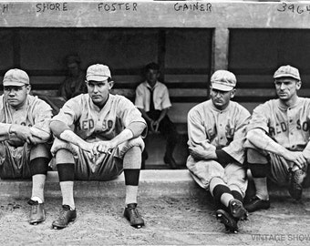 Vintage Babe Ruth Baseball Photo New York Yankees