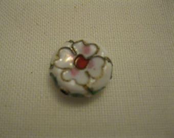 White cloisonné bead.