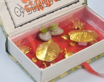 eb3056 Wigglers In A Box JAPAN ?? China ?? Vintage Novelty Turtles Moving Legs Heads Tails Arts GD Crafts