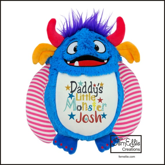 SPIKE THE MONSTER Personalized Cubbies, Stuffed Animal Gift, Birth Stats, Monogrammed Gift, Personalized Teddybear* Plush Toys*