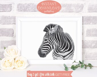 Zebra Print, Printable Wall Art, Black and White Print, Black and White Art, Printables, Zebra Art, Minimalist Print, Minimalist Art, Prints