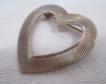 Vintage Heart Pin- Brooch