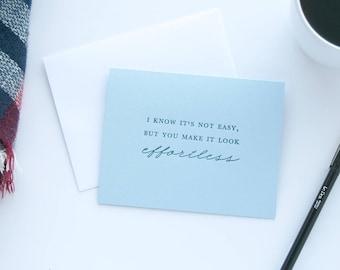 Make It Look Effortless Letterpress Card