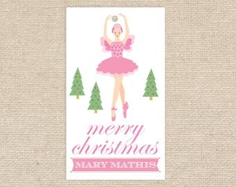 Digital Sugar Plum Fairy Gift Tags