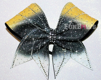 Custom  glitter Ombre and Rhinestone Cheer Bow  by FunBows ! - WOW !