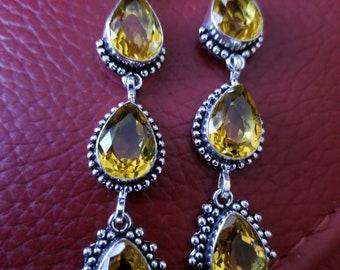 Lemon Quartz Earrings!
