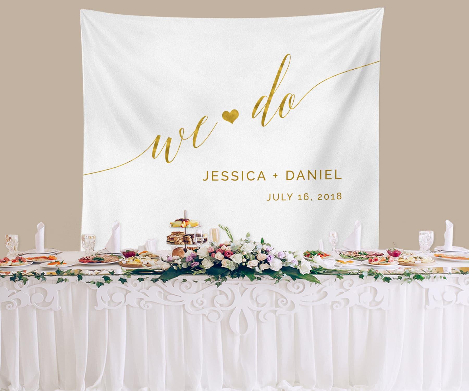 Rustic Wedding Backdrop Gold Ceremony Backdrop Reception