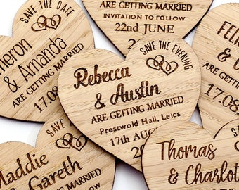 Wedding save the dates etsy uk save the date magnet rustic heart wooden save the date rustic wedding save the date personalised wedding invite custom wedding magnet solutioingenieria Images