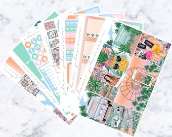 Sunset Festival Luxe Sticker Kit (Glam Planner Stickers for Erin Condren Life Planner)