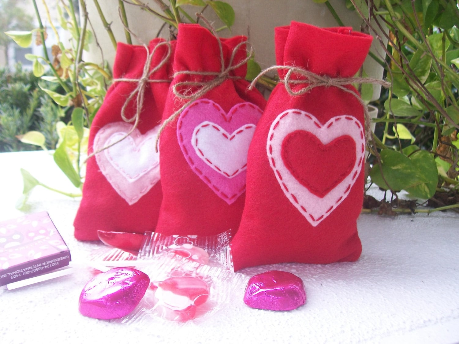 WEDDING/Felt bags/party favor/candy