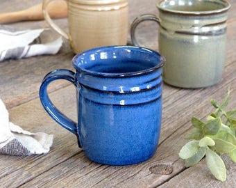 Coffee mug – Pottery regular straight coffee mug, Coffee cup, Ceramic, Stoneware, Handmade, Wheel thrown