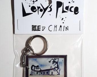 L'église Art Key Chain
